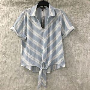 Luxology blue stripe summer top